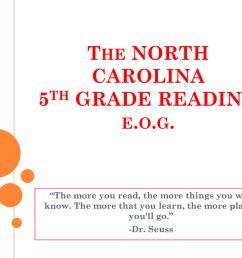 The NORTH CAROLINA 5th GRADE READING e.o.g. [ 768 x 1024 Pixel ]