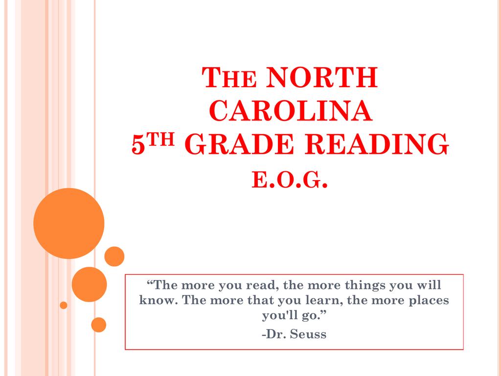 hight resolution of The NORTH CAROLINA 5th GRADE READING e.o.g.