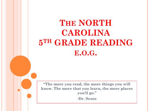 small resolution of The NORTH CAROLINA 5th GRADE READING e.o.g.