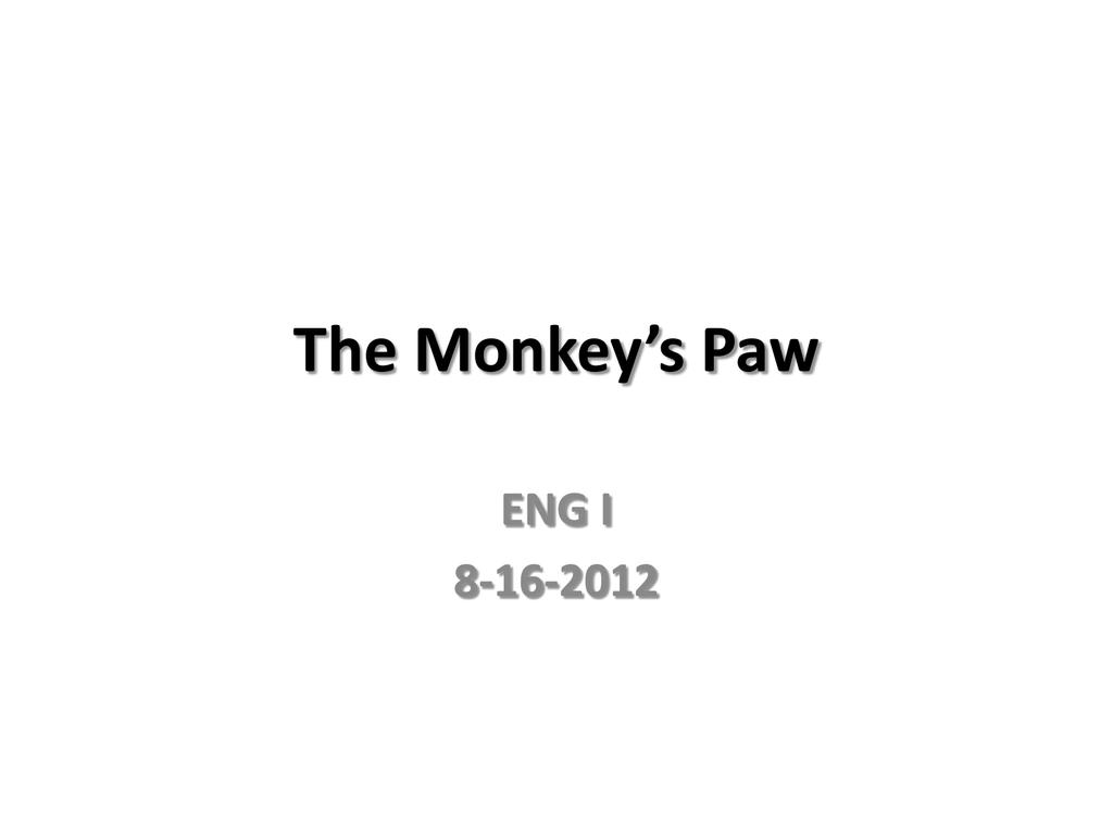 The Monkey S Paw