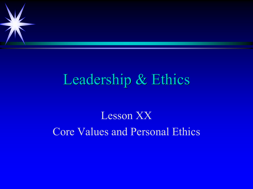 Navy Core Values Presentation