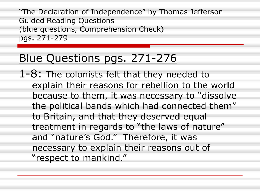 Parallelism In The Declaration Of Independence