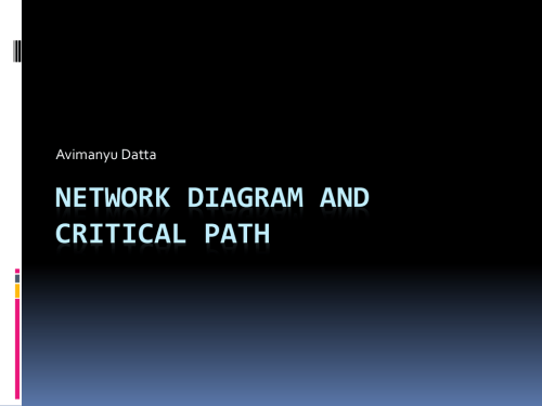 small resolution of avimanyu datta network diagram and critical path activity duration and preceding activities activity duration days preceding activity a 1 b 2 c 3 d