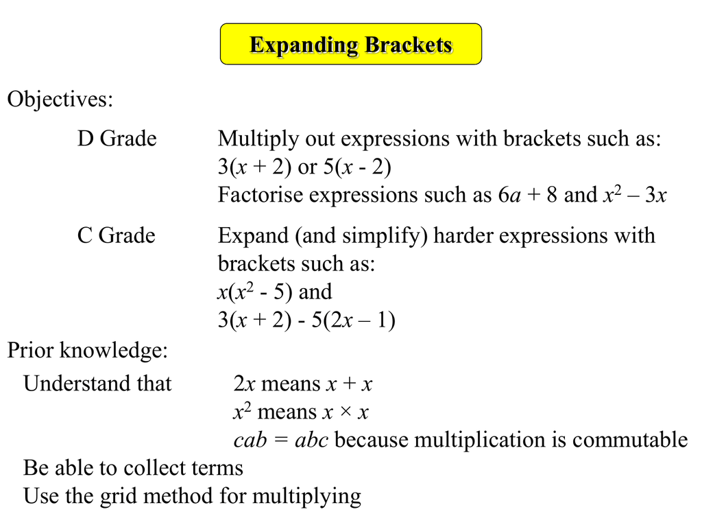 How To Factorise Expressions Into Single Brackets