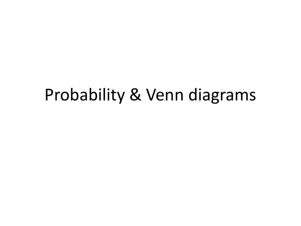 hight resolution of venn diagram conditional probability