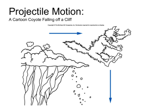 Chapter 3: Falling Objects and Projectile Motion