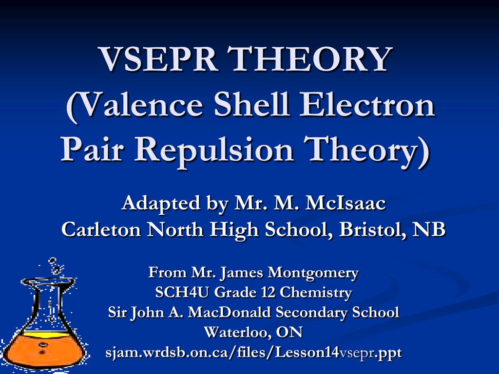 Ch 8 Vsepr Theory Amp Molecular Shapes