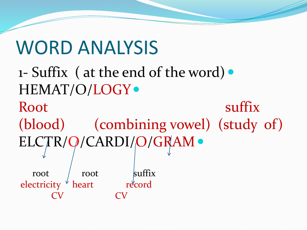 Medical Terms Suffix And Prefix