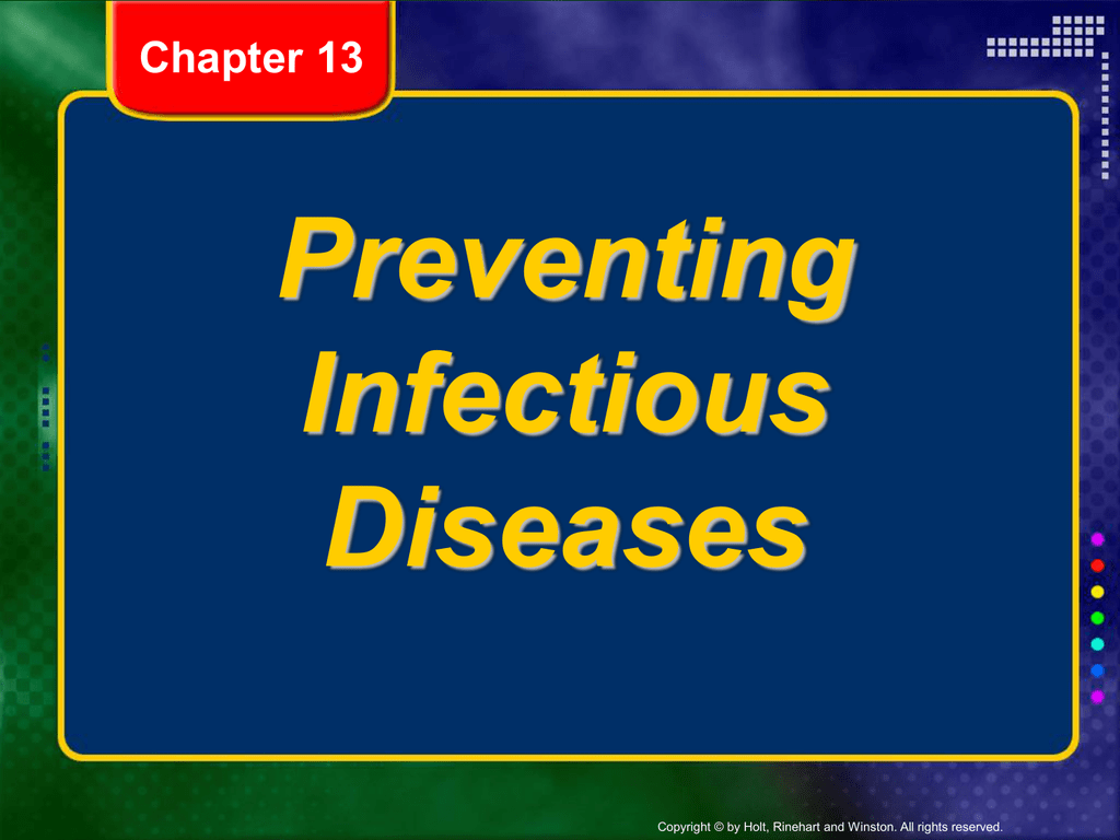 Preventing Infectious Diseases Worksheet Answers