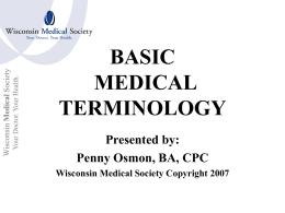 Quick study Medical Terminology