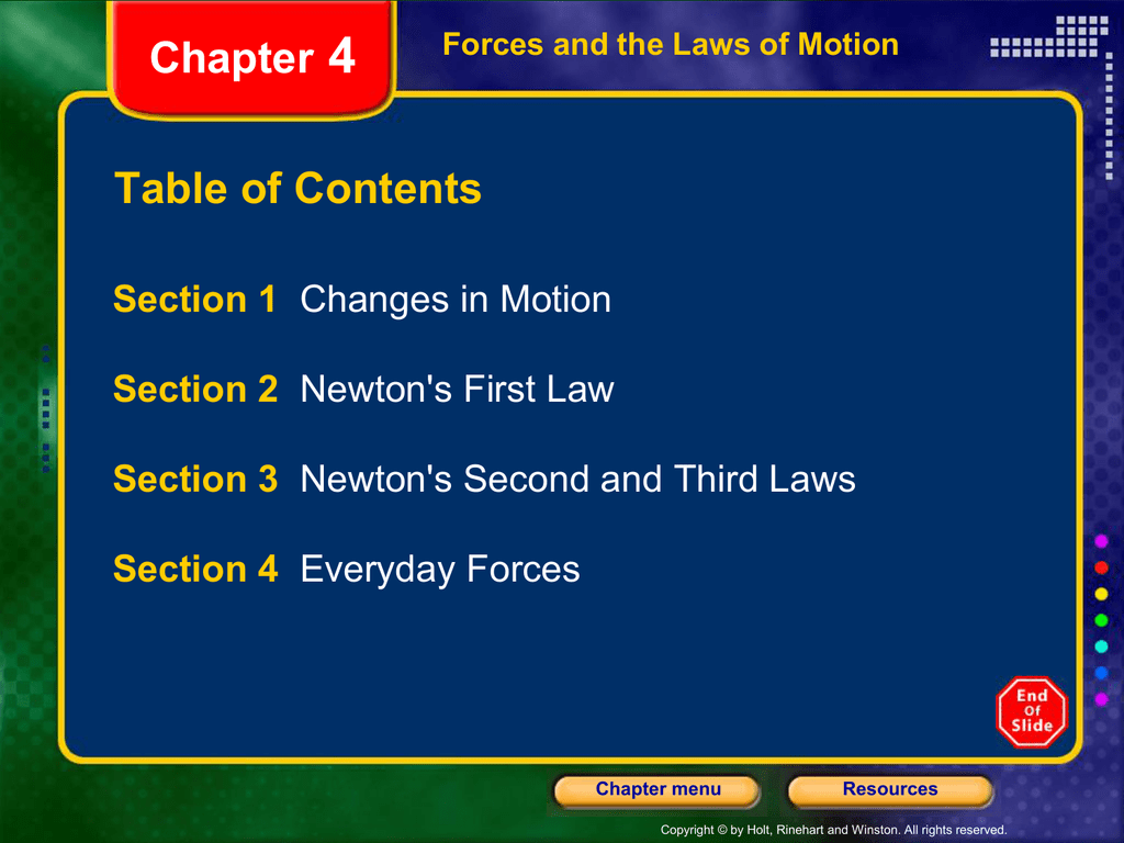 Physics Chapter 4 Powerpoint Notes