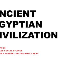 Ancient Egyptian Civilization - Cuyahoga Falls City School District [ 768 x 1024 Pixel ]