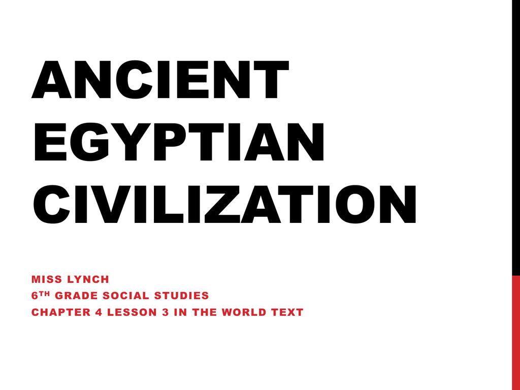 hight resolution of Ancient Egyptian Civilization - Cuyahoga Falls City School District