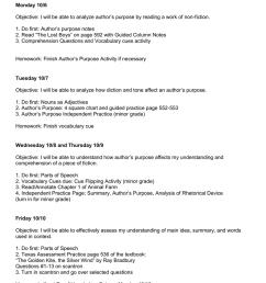 Pre-AP Lesson Plans: Monday [ 1024 x 791 Pixel ]