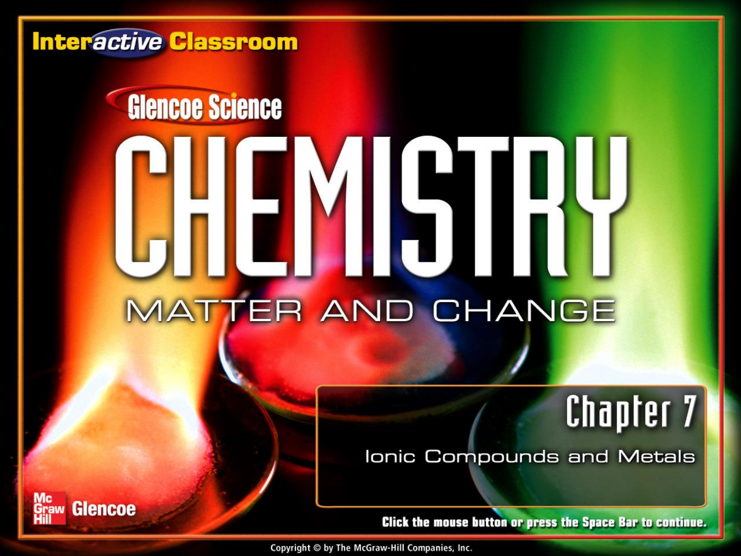 Chemistry Matter And Change