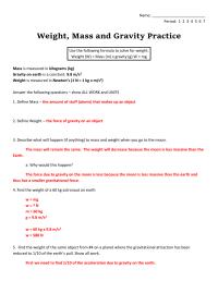 worksheet. Mass Vs Weight Worksheet. Worksheet Fun ...