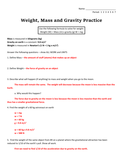 small resolution of Measuring Mass Practice Worksheet - Worksheet List