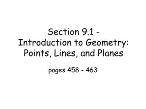 1.3 Worksheet #2 Skew Lines and Parallel Planes