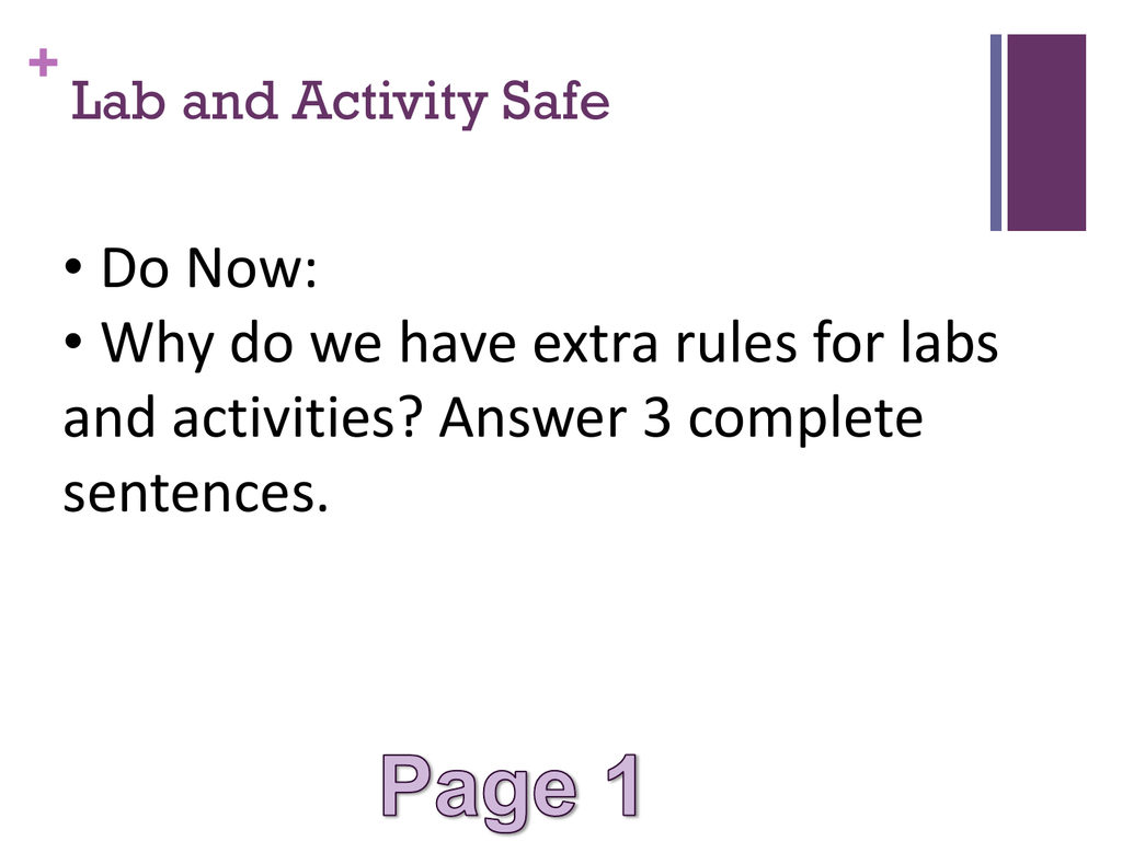 Middle School Lab Safety Rules And Procedures