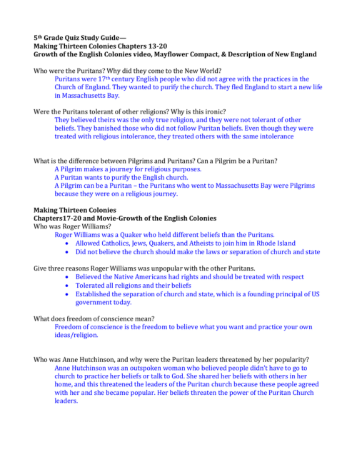 small resolution of 13 colonies study guide 5th grade