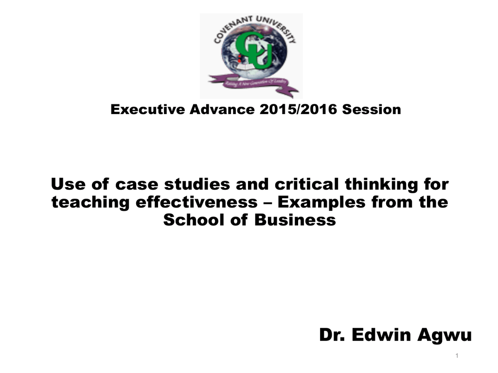 Critical thinking case studies. Critical thinking case