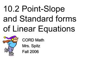 Algebra II R Semester 1 Final Exam Review