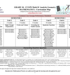 CCGPS Math II/Analytic Geometry – Unit 1 [ 791 x 1024 Pixel ]