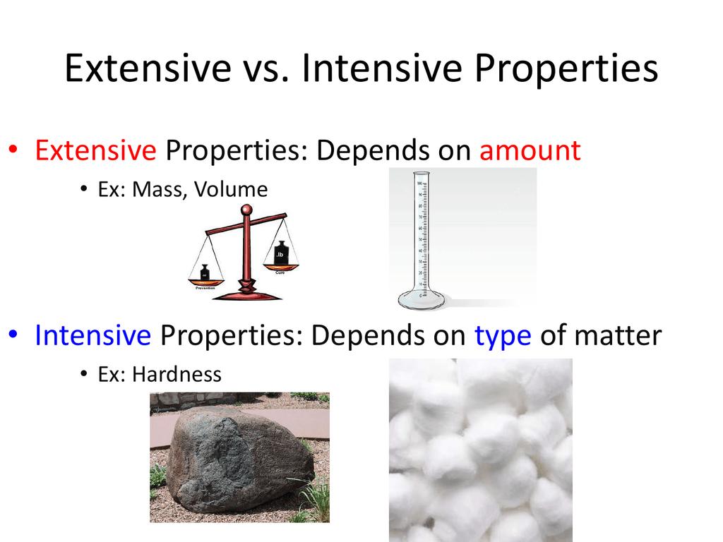 Extensive Vs Intensive Properties