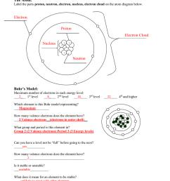 chemistry part 2 test review the atom label the parts proton neutron electron nucleus electron cloud on the atom diagram below  [ 791 x 1024 Pixel ]