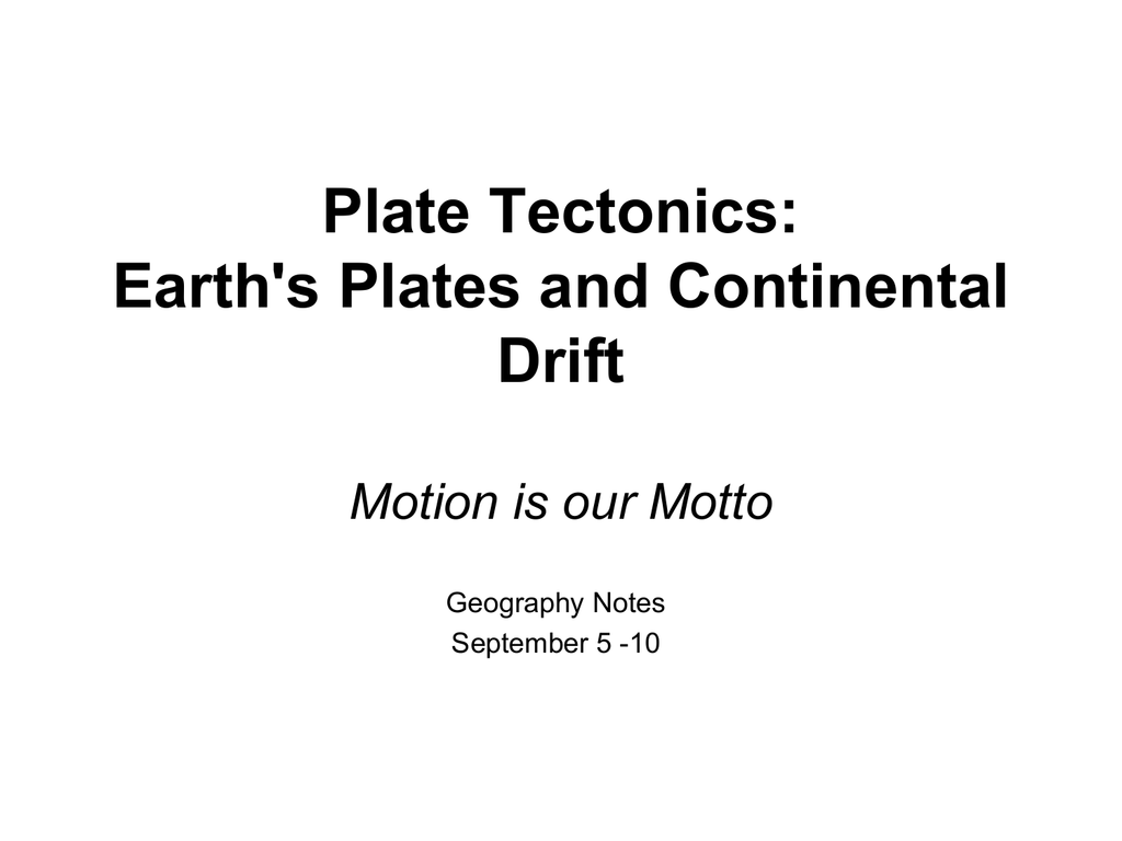 All About Plate Tectonics Earth S Plates And Continental