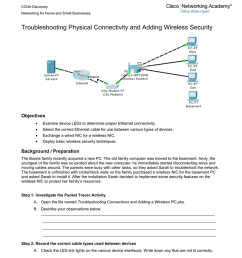 and adding wireless security objectives examine device leds to determine proper ethernet connectivity select the correct ethernet cable for  [ 791 x 1024 Pixel ]