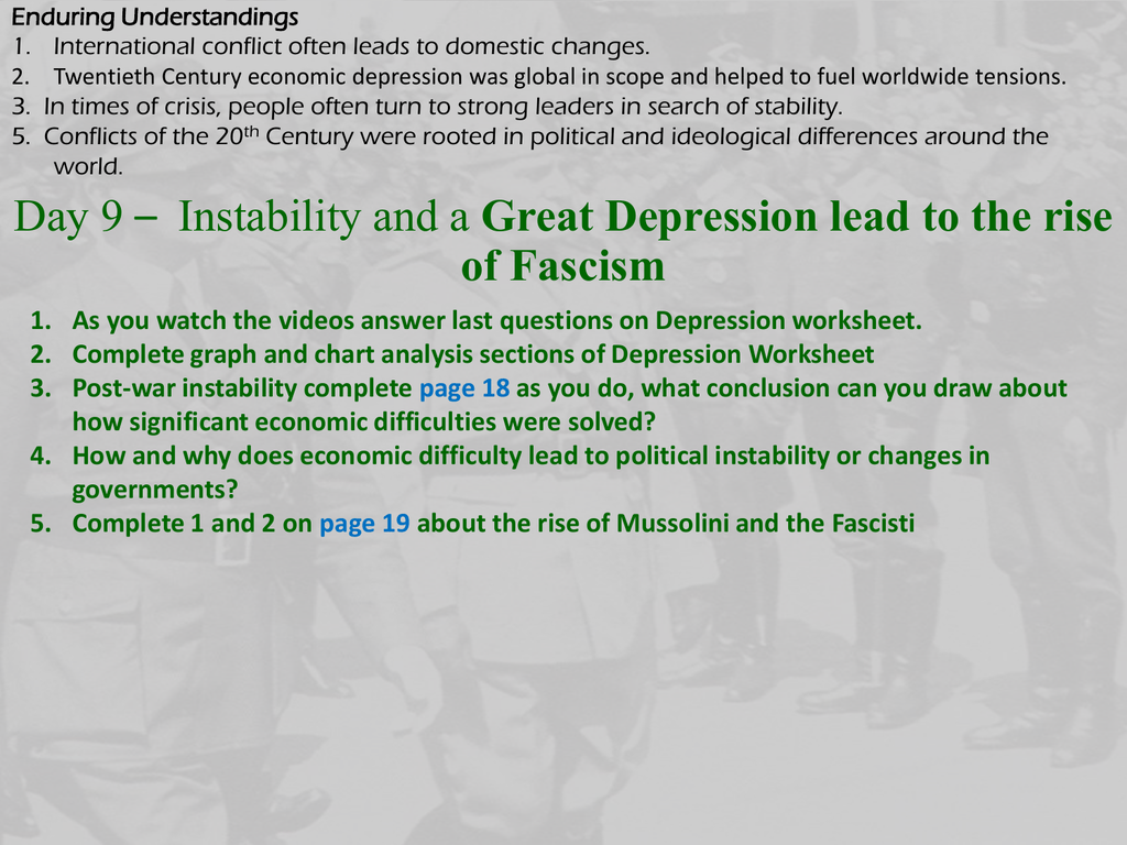 Great Depression Lead To The Rise Of Fascism