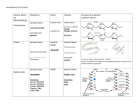 ORGANIC MACROMOLECULES WORKSHEET Carbohydrates Lipids