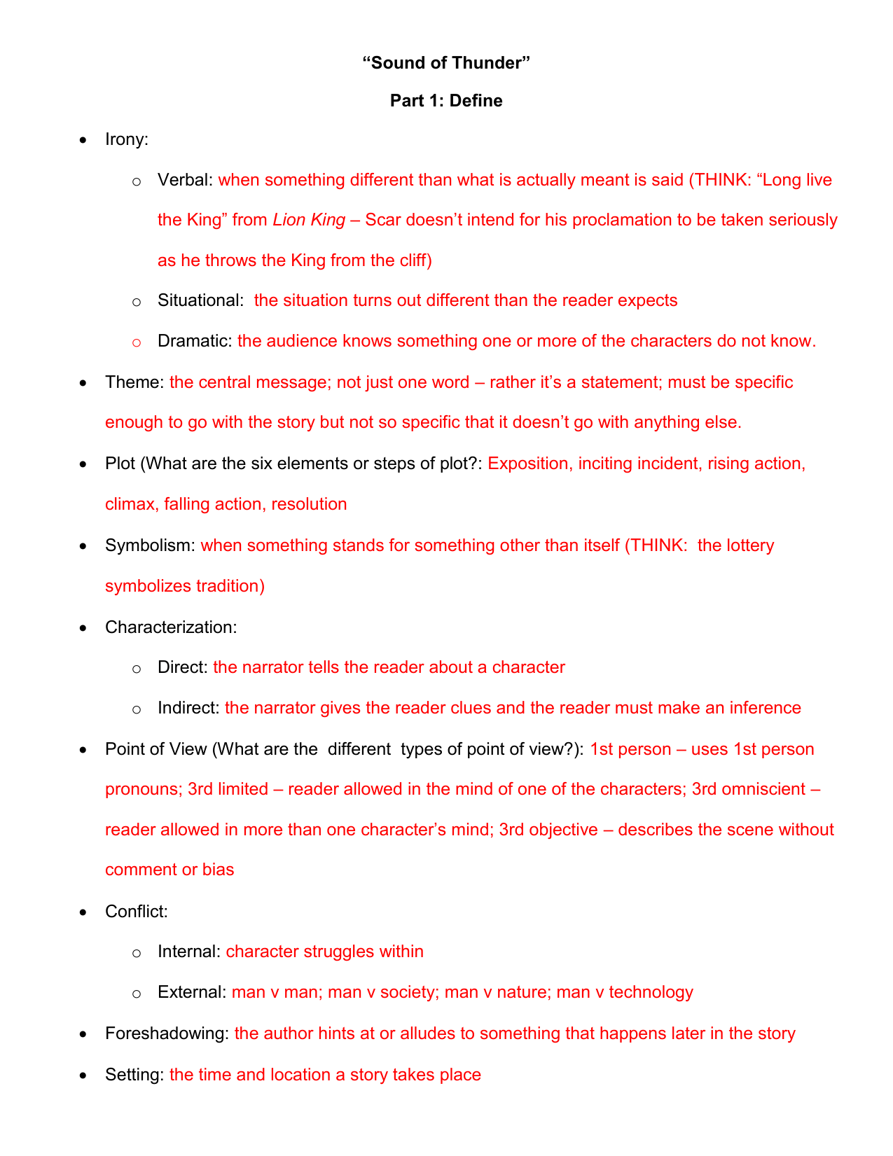Definitions And Answers