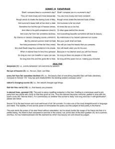 Commonlit Sonnet 18 Answer Key : commonlit, sonnet, answer, SONNET, (Paraphrase)