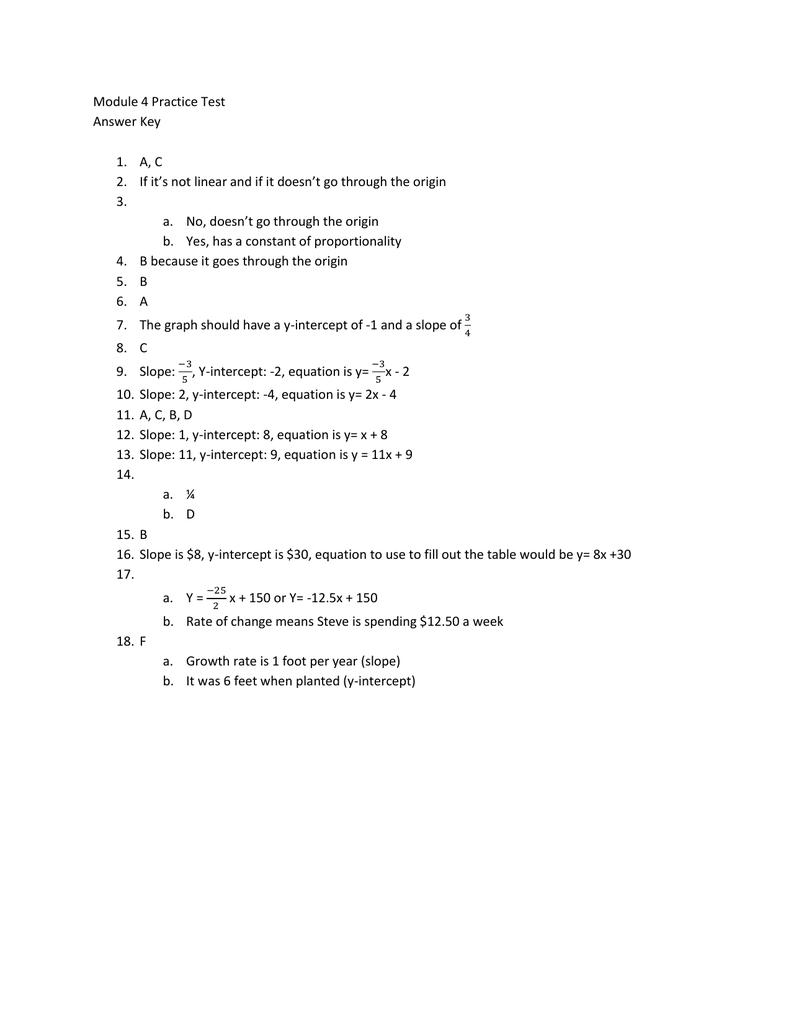 Test 1 Module