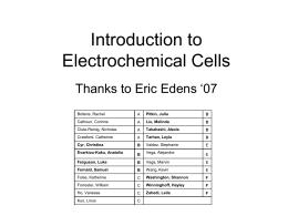 Electrochemistry Problem Set