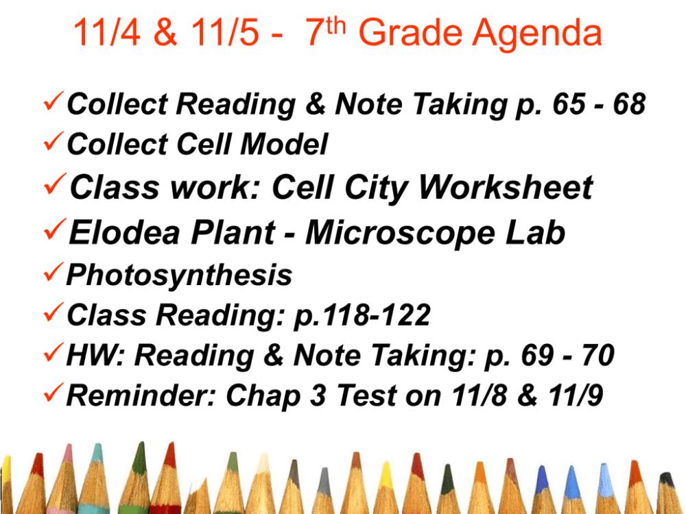 medium resolution of 4/20 \u0026 4/21 - 7th Grade Agenda