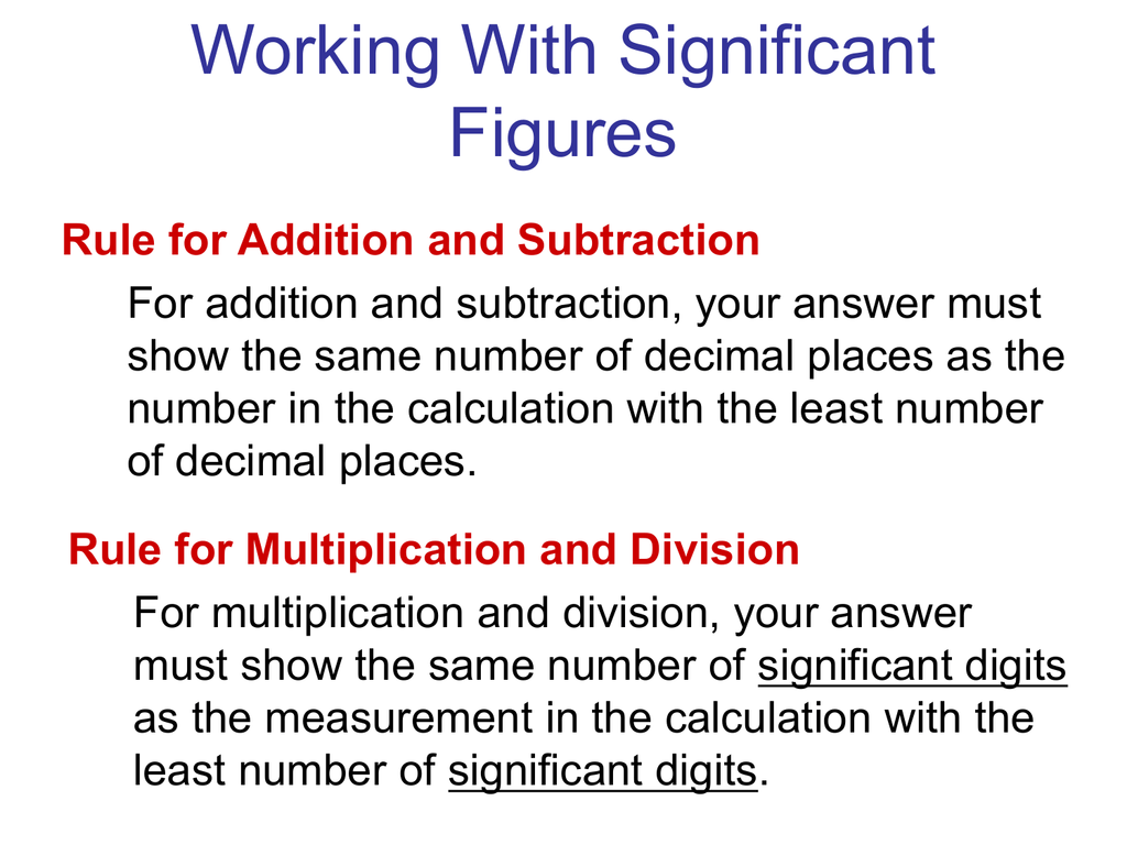 Sig Figs And Scientific Notation