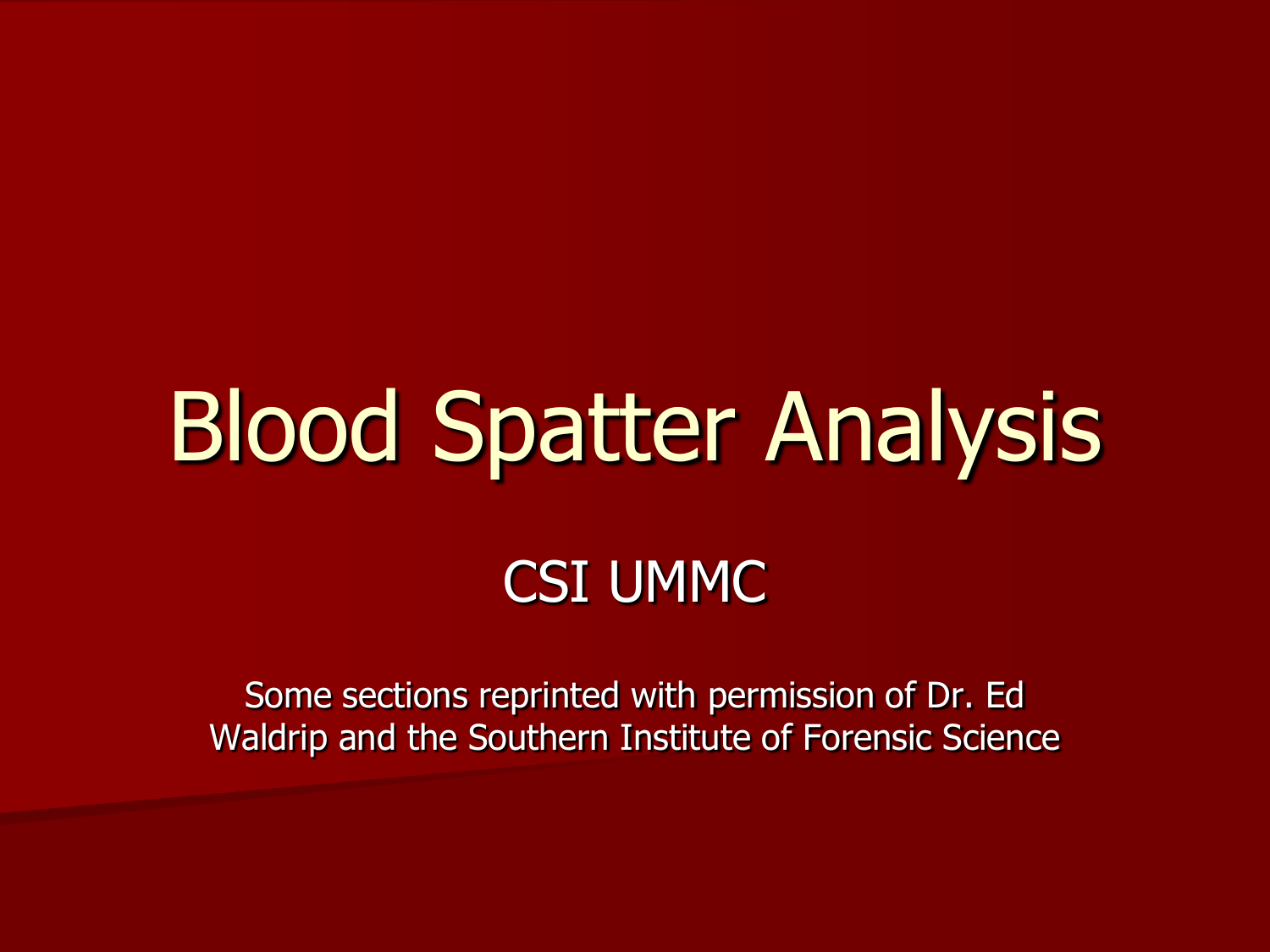 Forensic Science Blood Spatter Worksheet