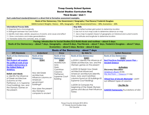 small resolution of Social Studies Curriculum Map