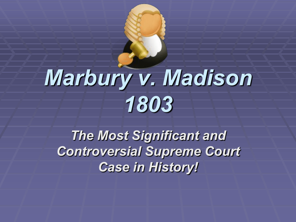 Marbury V Madison Worksheet