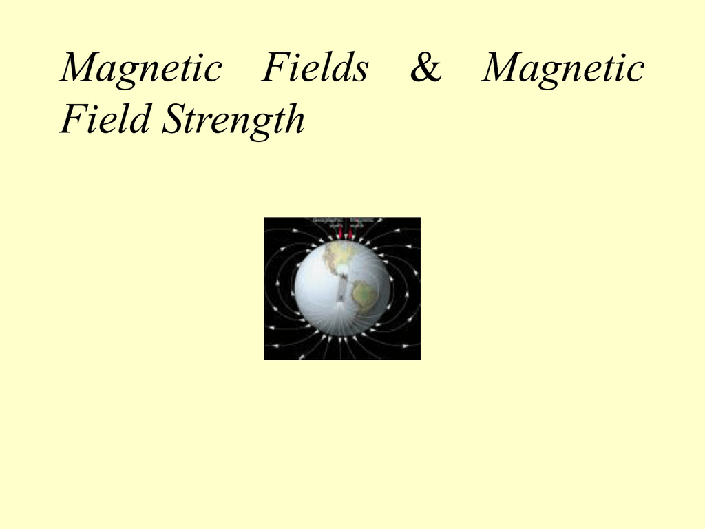 Magnetic Fields Amp Magnetic Field Strength