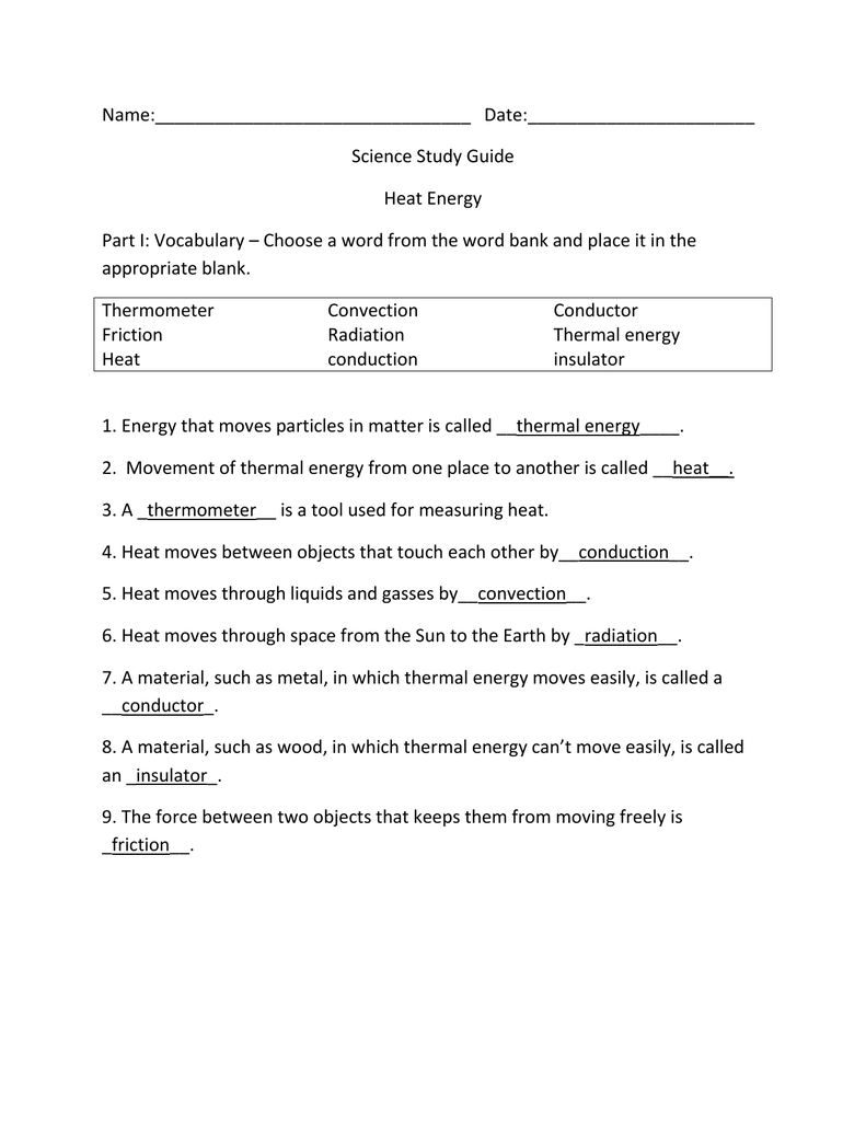 hight resolution of Study Guide answers