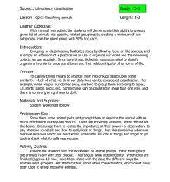Classification Practice - Animals Subject: Grade: 5-8 [ 1024 x 791 Pixel ]