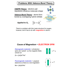 problems with valence bond theory vsepr theory electron pair repulsions influence molecular shape valence bond theory atoms form bonds by overlapping  [ 780 x 1024 Pixel ]