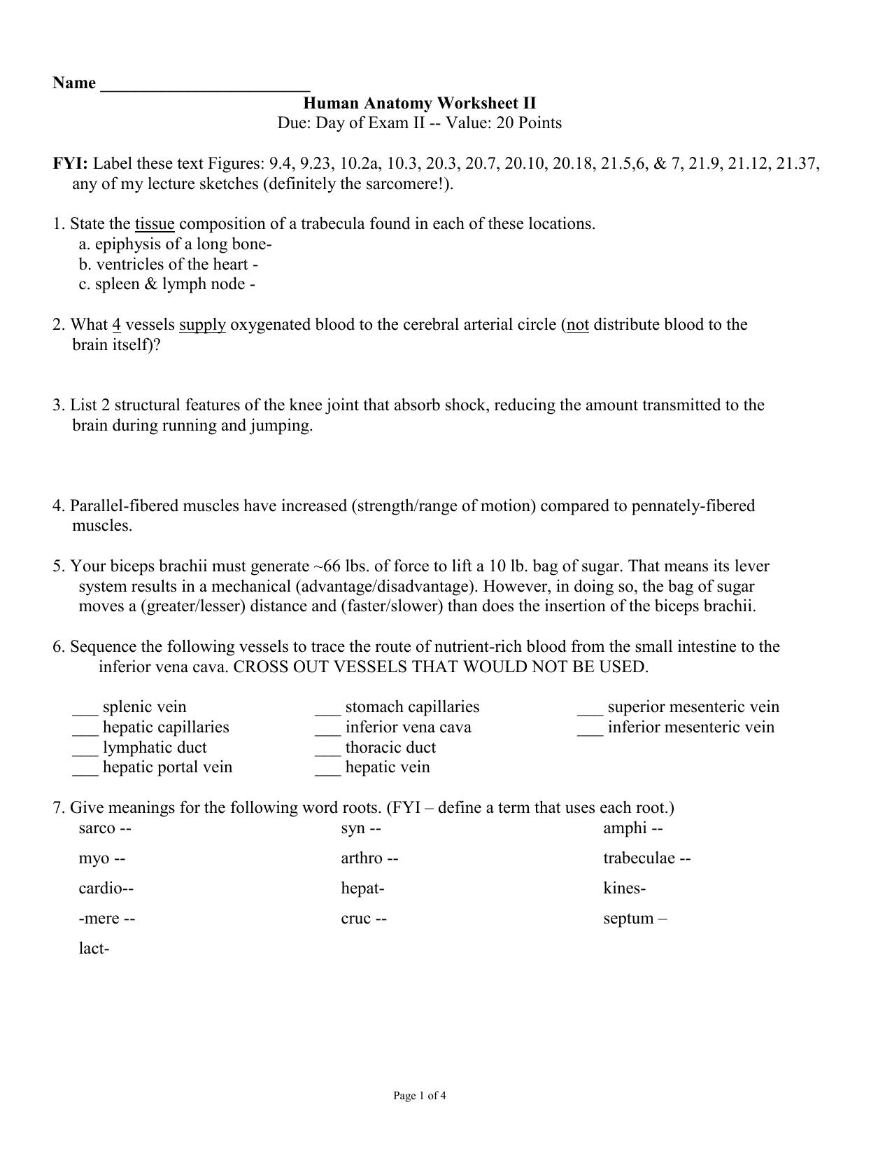Due Day Of Exam Ii Value 20 Points