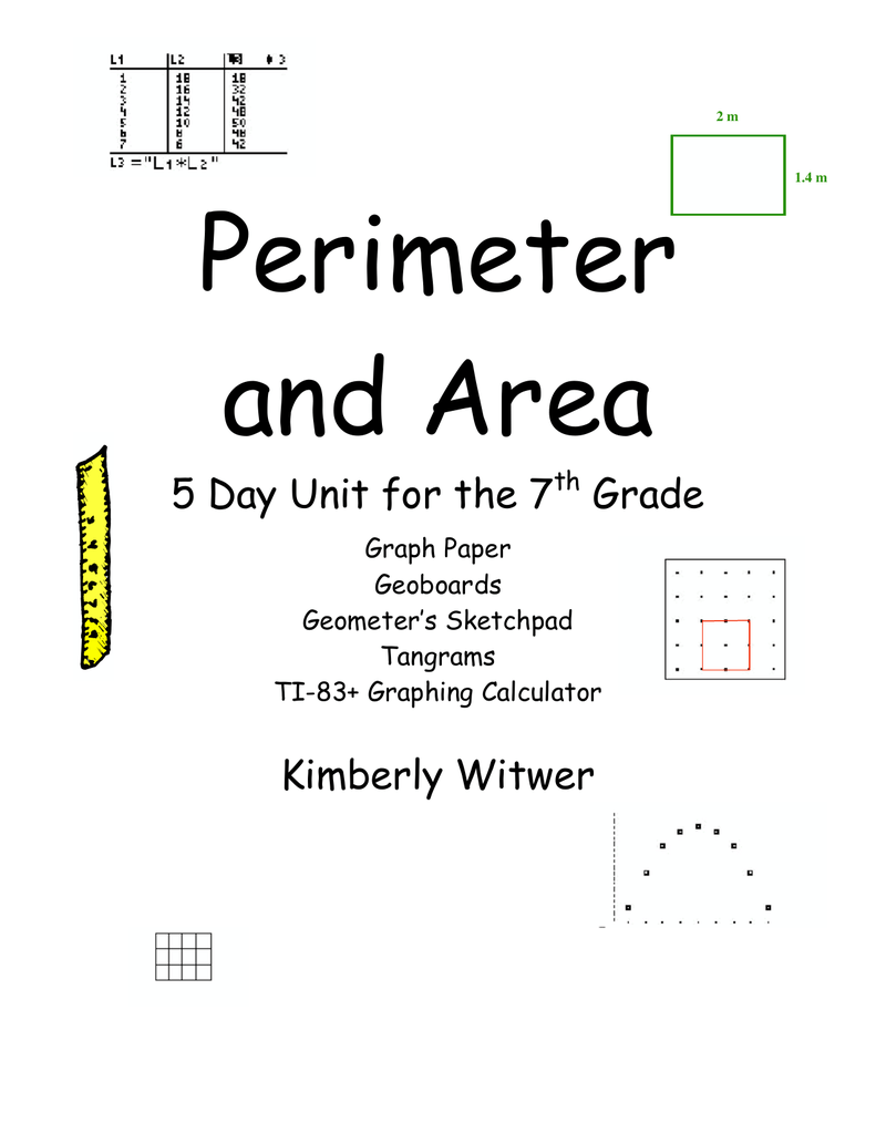 medium resolution of Perimeter and Area 5 Day Unit for the 7 Grade