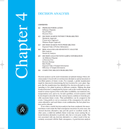 chapter 4 asw qmb ch 04 3 8 01 10 35 am page 96 decision analysis contents 4 1 problem formulation influence diagrams payoff tables decision trees 4 2  [ 845 x 1024 Pixel ]