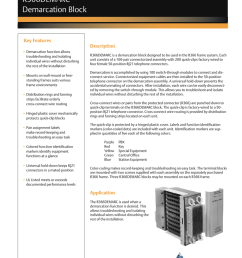 discontinued product outside plant for business critical continuity r366demarc demarcation block key features demarcation function allows troubleshooting  [ 791 x 1024 Pixel ]